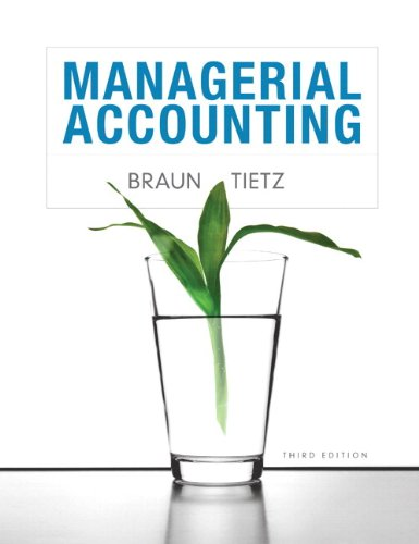 Managerial Accounting  3rd 2013 edition cover
