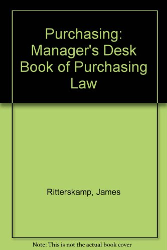 Purchasing Manager's Desk Book of Purchasing Law N/A 9780137421152 Front Cover