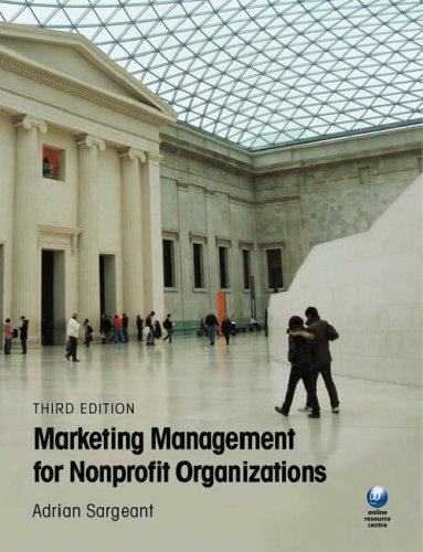 Marketing Management for Nonprofit Organizations  3rd 2009 9780199236152 Front Cover