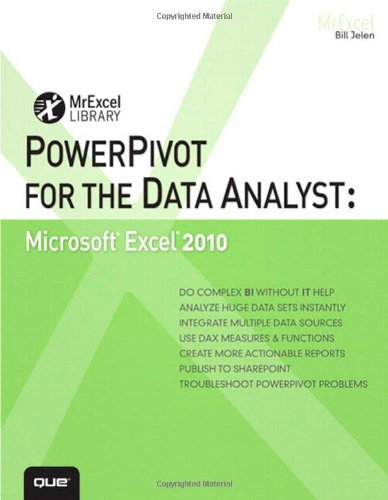 PowerPivot for the Data Analyst Microsoft Excel 2010  2011 edition cover