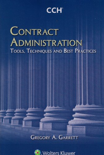 Contract Administration Tools Techniques and Best Practices  N/A edition cover