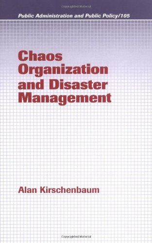 Chaos Organization and Disaster Management   2003 edition cover