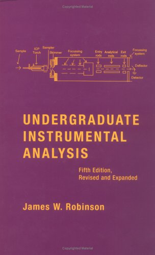 Undergraduate Instrumental Analysis  5th 1994 (Revised) edition cover