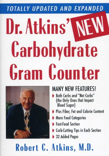 Dr. Atkins' New Carbohydrate Gram Counter   2002 9780871318152 Front Cover