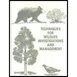 Techniques for Wildlife Investigations and Management  6th 2005 edition cover