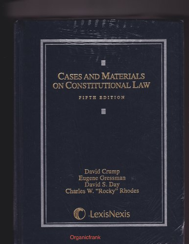 Cases and Materials on Constitutional Law 5th 2009 edition cover