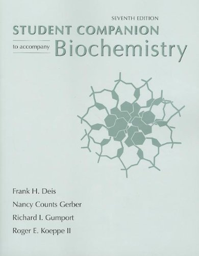 Biochemistry Student Companion  7th 2012 edition cover