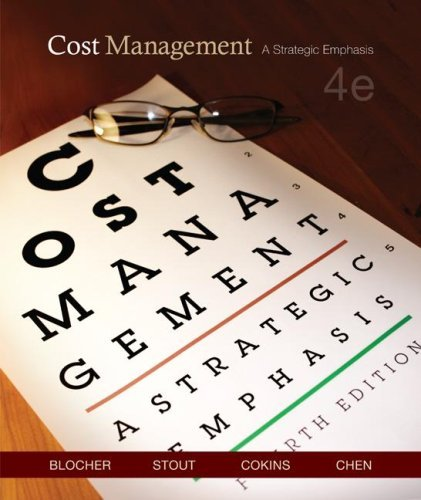 Cost Management A Strategic Emphasis 4th 2008 (Revised) edition cover