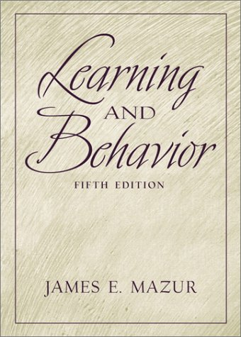Learning and Behavior  5th 2002 edition cover