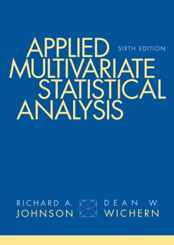 Applied Multivariate Statistical Analysis  6th 2008 edition cover