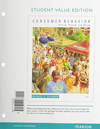 Consumer Behavior: Buying, Having, and Being, Student Value Edition  2014 edition cover