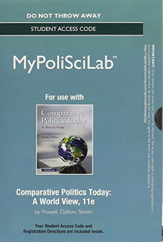 NEW My PoliSciLab -- Standalone Access Card -- for Comparative Politics Today A World View 11th 2015 9780133828153 Front Cover