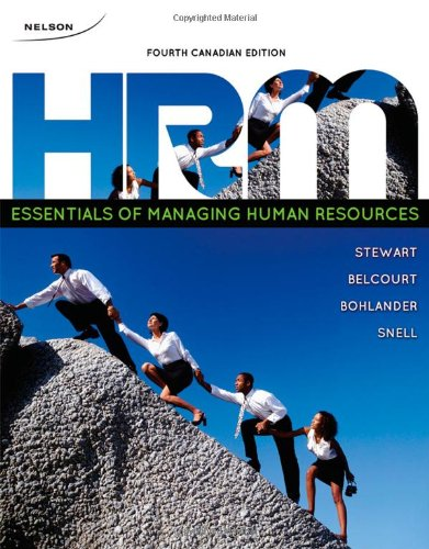 Essentials of Managing Human Resources  4th 2010 edition cover