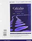 Calculus for Scientists and Engineers Early Transcendentals   2013 edition cover
