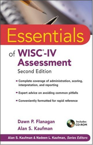 Essentials of WISC-IV Assessment  2nd 2009 edition cover