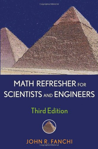 Math Refresher for Scientists and Engineers  3rd 2006 (Revised) edition cover