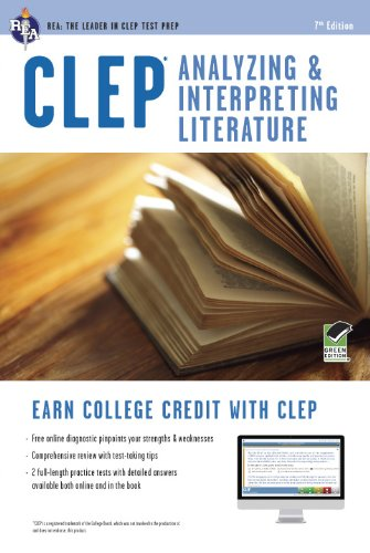 CLEP� Analyzing and Interpreting Literature  7th 2015 (Revised) edition cover