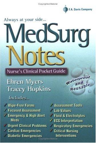 MedSurg Notes Nurse's Clinical Pocket Guide  2004 edition cover