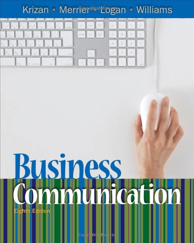 Business Communication  8th 2011 edition cover