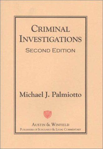 Criminal Investigations  2nd 1998 9781572921153 Front Cover