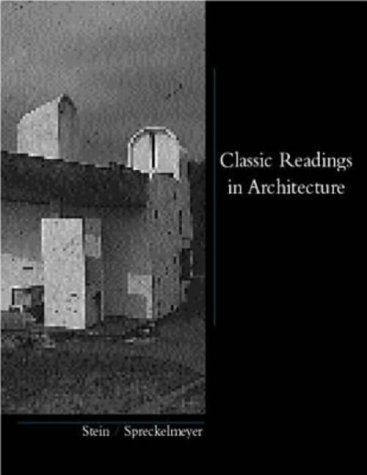 Classic Readings in Architecture 1st 1999 9780070614154 Front Cover