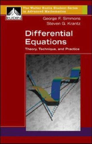 Differential Equations Theory, Technique, and Practice  2007 edition cover