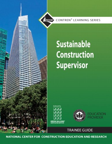 Sustainable Construction Supervisor   2012 (Revised) 9780132154154 Front Cover