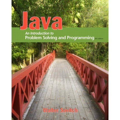 Java Introduction to Problem Solving and Programming 6th 2012 9780132774154 Front Cover