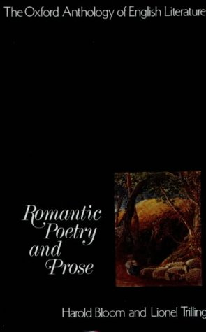 Oxford Anthology of English Literature Romantic Poetry and Prose  1973 edition cover