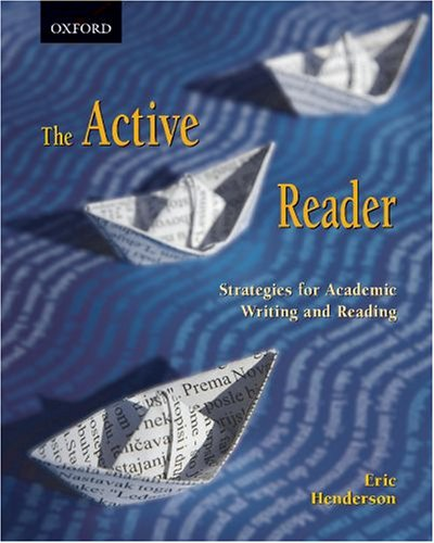 Active Reader Strategies for Academic Reading and Writing  2007 9780195425154 Front Cover