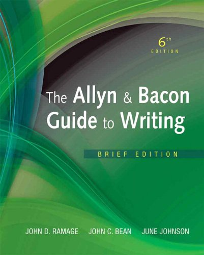 Allyn and Bacon Guide to Writing, the, Brief Edition  6th 2012 edition cover