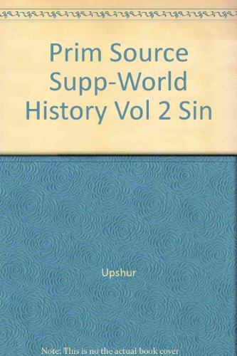 Upshur World History 2nd (Supplement) 9780314059154 Front Cover