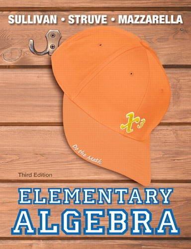 Elementary Algebra  3rd 2014 edition cover