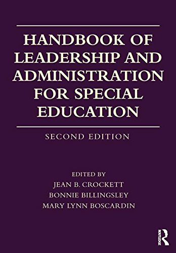 Handbook of Leadership and Administration for Special Education  2nd 2018 9780415787154 Front Cover