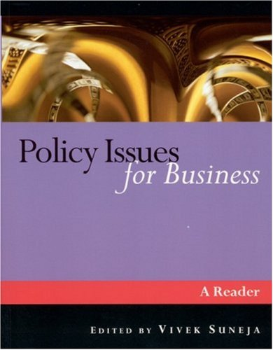 Policy Issues for Business A Reader  2002 9780761974154 Front Cover