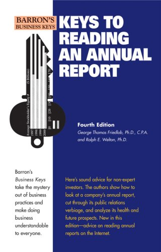 Keys to Reading an Annual Report  4th 2008 (Revised) edition cover