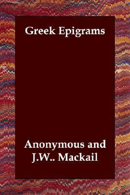 Greek Epigrams N/A 9781406805154 Front Cover