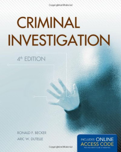 Criminal Investigation  4th 2013 edition cover