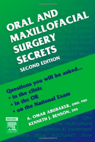 Oral and Maxillofacial Surgery Secrets  2nd 2007 (Revised) 9781560536154 Front Cover