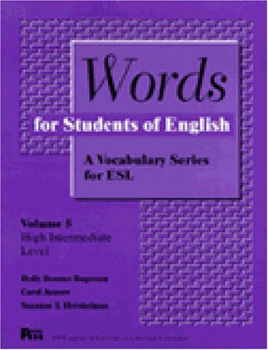 Words for Students of English  N/A 9780472082155 Front Cover