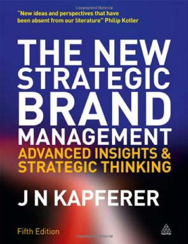 New Strategic Brand Management Advanced Insights and Strategic Thinking 5th 2012 edition cover