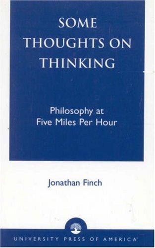 Some Thoughts on Thinking Philosophy at Five Miles per Hour  2002 edition cover