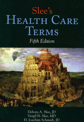 Slee's Health Care Terms  5th 2008 (Revised) edition cover