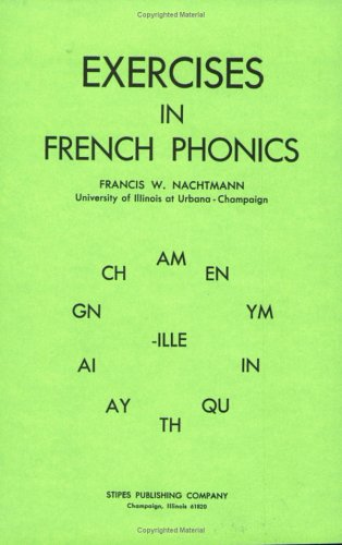 Exercises in French Phonics 1st (Reprint) edition cover