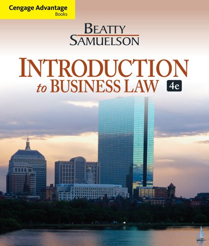 Introduction to Business Law  4th 2013 edition cover