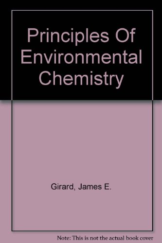 Principles of Environmental Chemistry  3rd 2014 edition cover