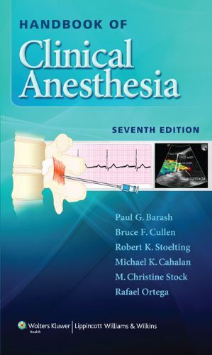 Handbook of Clinical Anesthesia  7th 2013 (Revised) 9781451176155 Front Cover