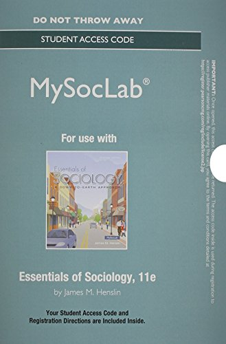 Essentials of Sociology  11th 2015 9780133814156 Front Cover