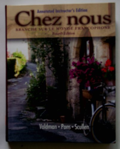 CHEZ NOUS >ANNOT.INSTRS.ED< N/A edition cover