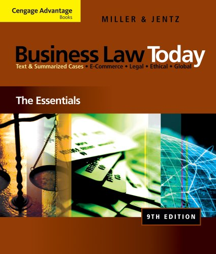 Business Law Today The Essentials 9th 2011 edition cover